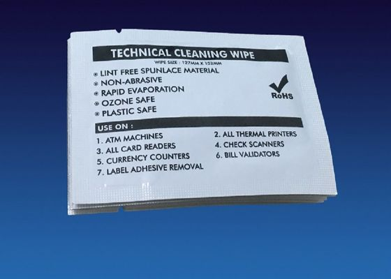 Double Sided Cleaning Wipe Check Scanner Cleaner Electronic Grade IPA Solution